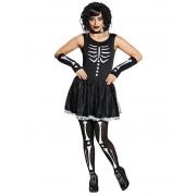 Deguisetoi Déguisement squelette noir blanc femme - Taille: XS