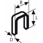 Скоба с тесен гръб тип 55, 6 x 1,08 x 14 mm, 1000 бр., 1609200371, BOSCH