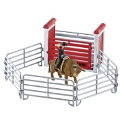 Schleich Farm World 41419 Bull Riding with Cowboy