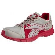 Reebok Women's Run Sports Lp Steel and Pink Mesh Running Shoes - 4 UK