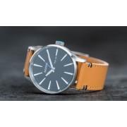 Nixon Sentry Leather Watch Natural/ Black