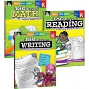 180 Days of Reading, Writing and Math for Kindergarten 3-Book Set, Paperback
