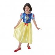 Costum pentru fetite Alba ca Zapada Fairytale, lungime 79 cm, 5-6 ani+