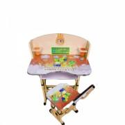 Birou Copii cu masuta, etajera si scaun KT0539 Portocaliu