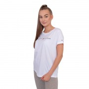 Tommy Hilfiger Dámské tričko Tommy Hilfiger bílé (UW0UW01618 100) M