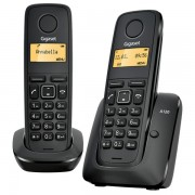 Phone, Gigaset A120 DUO, DECT, Black (1015071)