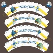 Cupcakes cu Strumfi, decoraţiune pentru brioşe