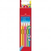 Creioane colorate Jumbo 5 culori/set FABER-CASTELL Grip Neon
