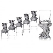 Set 6 Pahare Vodka Cavallo by Chinelli made in Italy