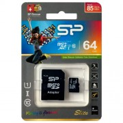 Silicon Power 64GB microSD+adapter, UHS1