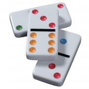 Domino tactil şi uşor de văzut, cu 28 de piese, adaptat pentru nevăzători - STOC EPUIZAT TEMPORAR
