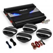 "Auna 4.0 HiFi автомобилен комплект ""Black Line 400"", усилвател, високоговорители (PL-4.0-BL-400)"