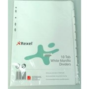 Rexel A4 File Divider Board Tab1-10 Whi, Retail