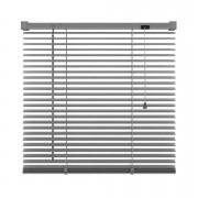 Basic horizontale jaloezie PVC - antraciet - 120x180 cm - Leen Bakker