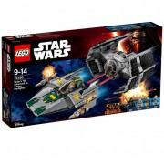 Lego Klocki konstrukcyjne STAR WARS TIE Advanced kontra myśliwiec A-Wing 75150