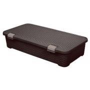 Curver 01704-210-00 My Style Rattan hatású ágy alatti tároló gurulós 42 L barna