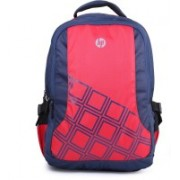 HP Red and Navy Blue Diamond Backpack with Raincover 2.5 L Laptop Backpack(Pink, Blue)