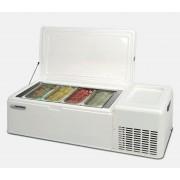 Frigorifero per gelato artigianale completo TecFrigo Capacità 26 LT Refrigerazione statica Temperatura -15 -18°C Dim. Cm. L 125.5 x P 52.5 x h 36 Modello ICEPOINT4