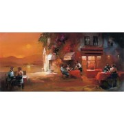 Puzzle panoramic Art Puzzle - Willem Haenraets: Dinner for Two, 1.000 piese (Art-Puzzle-4316)