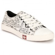 Lee Peeter Men's White Lace-up Sneakers