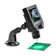 Přenosný LCD mikroskop 40x s přísavkou, integrovaná baterie, USB, microSD