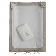 Maisons du Monde OURSON cotton baby changing mat in white 52 x 70cm