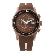 【67%OFF】ラウンドウォッチ クロノグラフ デイト表示 ケース:ブラウン ベルト:ブラウン ファッション > 腕時計~~メンズ 腕時計