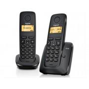 Siemens Teléfono Inalámbrico Dúo GIGASET A120 Negro