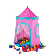 Kids Tent Glitter Fairy Princess Castle Pop Up Tent Play Tents Indoor Outdoor Tent Great Game & Toy Gift For Children Fun By Alvantor (NOT include balls)
