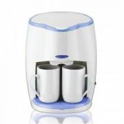 Кафемашина с подарък 2 чаши SAPIR SP 1170 L, 450 W, LED индикатор, Бяла