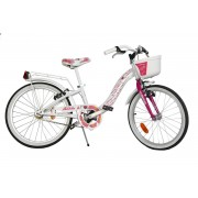 Bicicleta pentru fetite Hello Kitty, cosulet pentru cumparaturi, 7 ani+