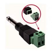 L.S.C. Isolanti Elettrici Adattatore Da Spina 6,3 Mm Stereo A Morsetto 2 Poli