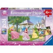 Детски пъзел 2 в 1 - Дисни принцеси - Ravensburger, 707722