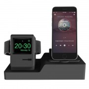 Apple Klassieke Design 3 in 1 Charging Dock Stand houder Station voor Airpods & iPhone & Apple Watch (zwart)