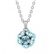 Kék kristályos shamballa stílusú nyaklánc