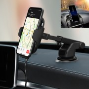 C9 Car Mounted Full-automatic Infrared Sensor Bracket Wireless Charger (Air Outlet+Suction Cup)