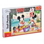 Puzzle copii Mickey & Minnie Trefl, 24 piese, 3 ani+