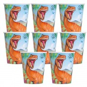 Dinosaur Party Cups (Pack of 8)