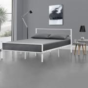 [en.casa] Kovová posteľ 'Argos' AADB-1706 120x200 cm biela