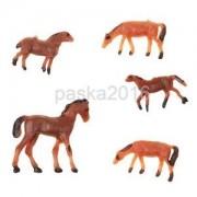 Alcoa Prime 5PCS Micro Sand Table Model Farm Animals Scale Mold Small Horse Sandbox Toy