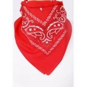 Rode boerenzakdoek / bandana met klassiek motief