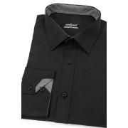 Černá pánská košile uvnitř kostkovaná Avantgard 125-2301-39/40/182
