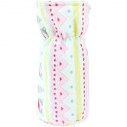 Neska Moda Pink And Yellow Baby Feeding Velvet Bottle Cover (Capacity 125 ML) BC7