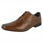 Clarks Mens Clarks Formal Shoes Glement Lace Tan (Brown) UK 10