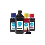 Kit 4 Tintas para Epson L120 Black 500ml Coloridas 100ml Corante