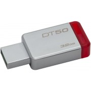 Stick USB Kingston DataTraveler 50, 32GB, USB 3.1 (Metal/Rosu)