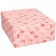Geen Inpakpapier/cadeaupapier roze flamingos print 200 x 70 cm