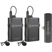 Sistem wireless Boya BY-WM4 PRO-K4 cu 2xMicrofon lavaliera 2xTransmitator si Receiver pentru iOS