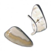 Metro Mod Man Shield Cufflink Jewelry Grey