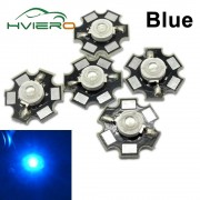 10Pcs 1W 3W High Power White Red Blue Green light bead emitter LED Bulb Diodes Lamp Beads with 20mm Star PCB Platine Heatsink